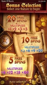 free spin Queen of Bounty